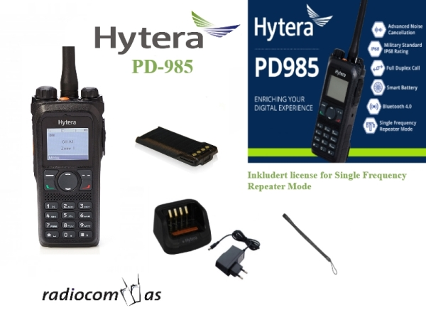 KONGEN AV JAKTRADIO! HYTERA PD985GMD VHF JAKTRADIO MED SFR (Single Frequency Repeater)